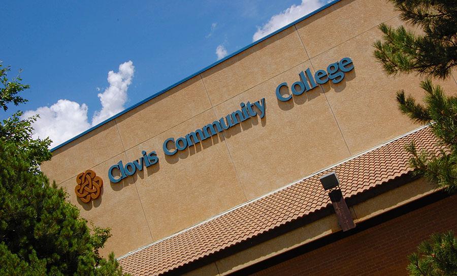 Clovis community college front sign